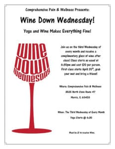 Comprehensive Wine Down Wednesday - Wine and Yoga